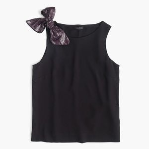 J. Crew Tops - NWT J. Crew Drapey Tank with Shoulder Bow